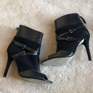 Bcbg peep toe ankle bootie